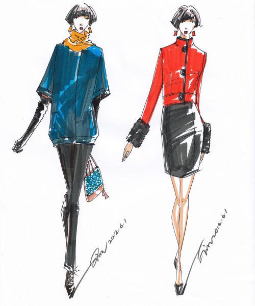 -6-24服装设计手绘效果图