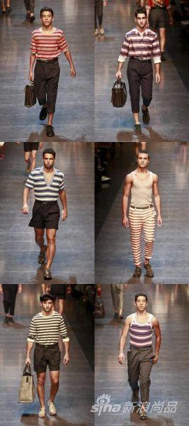 Dolce & Gabbana的海魂条纹设计
