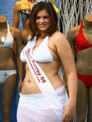 胖女孩也有春天 80公斤女子成选美亚军
