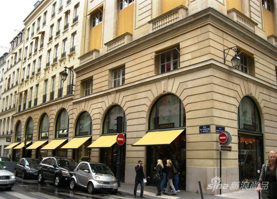 位于巴黎福宝大道24号的爱马仕总店