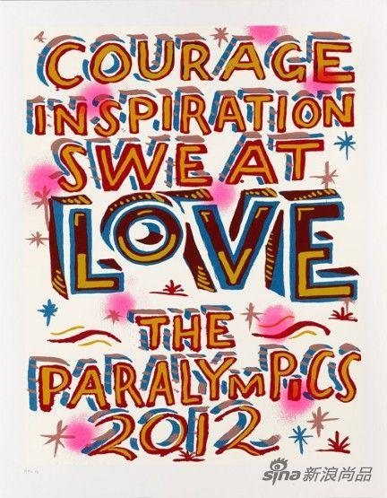 艺术家Bob and Roberta Smith设计的2012残奥会海报