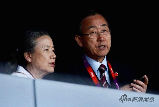 联合国秘书长潘基文与夫人柳淳泽