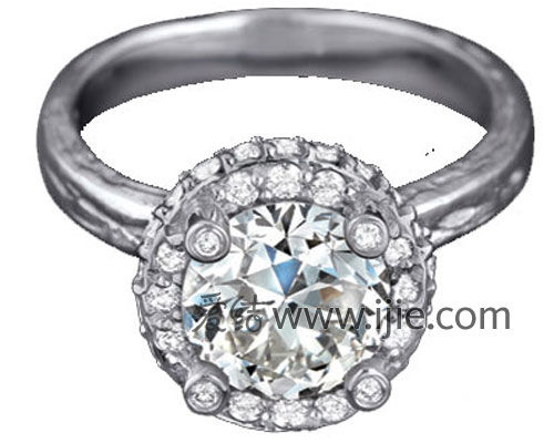 Karen Karch铂金钻石戒指