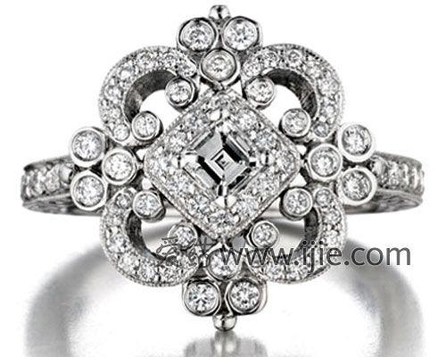 Penny Preville 18K白色K金钻石戒指