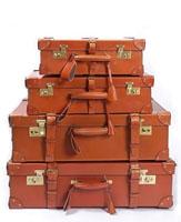 复古真皮旅行箱