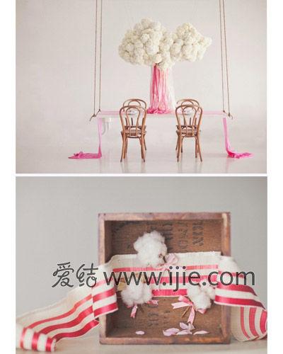 中式家具手绘云朵图案
