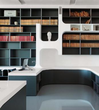 法国图书馆的黑白设计密语