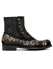 D&G刺绣皮靴