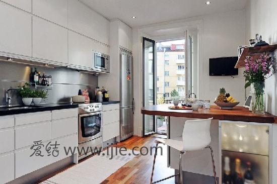 小户型大客厅 58平米北欧风格公寓