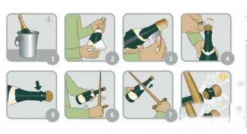 如何打开一瓶香槟
