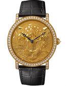 卡地亚罕见金属珠粒工艺高级腕表