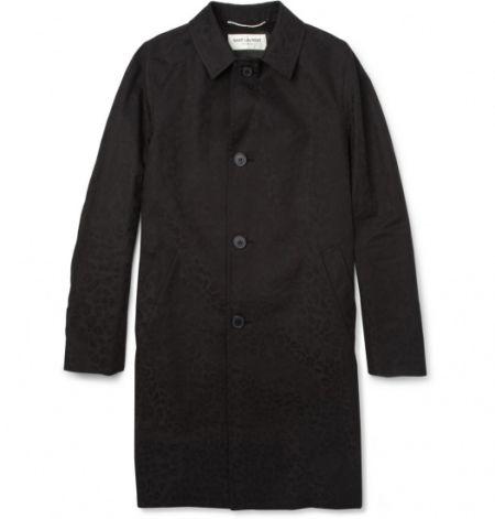 SAINT LAURENT 豹纹印花风衣 约10850元