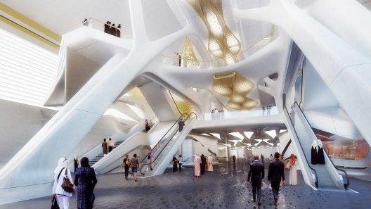 扎哈设计的灵动花纹地铁站
