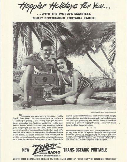1947年拍摄的收音机广告片