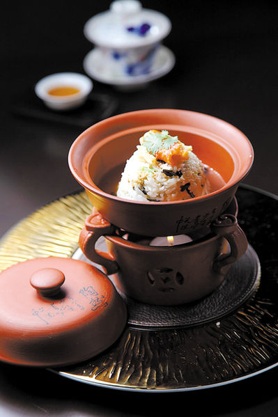 瑶柱蟹肉野米烩丝苗