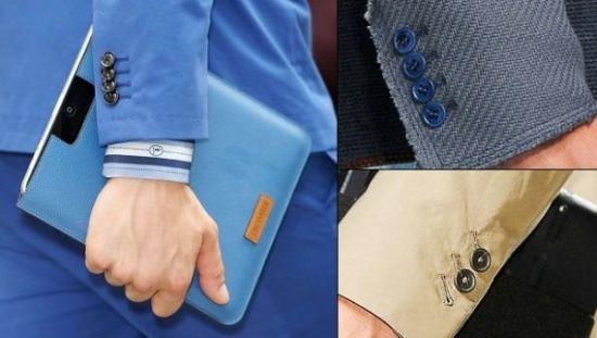 西装袖口的选择体现了男人的着装品位