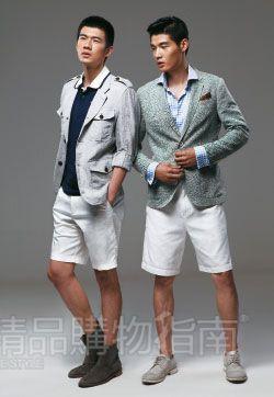 应对时髦流行的白色短裤