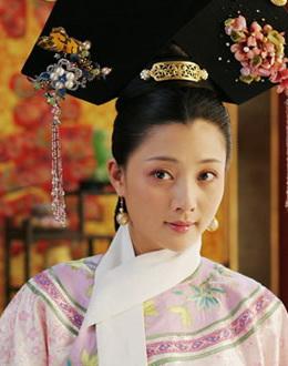 殷桃在《苍穹之昂》中的古装扮相
