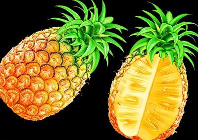 菠萝淡化面部色斑图片
