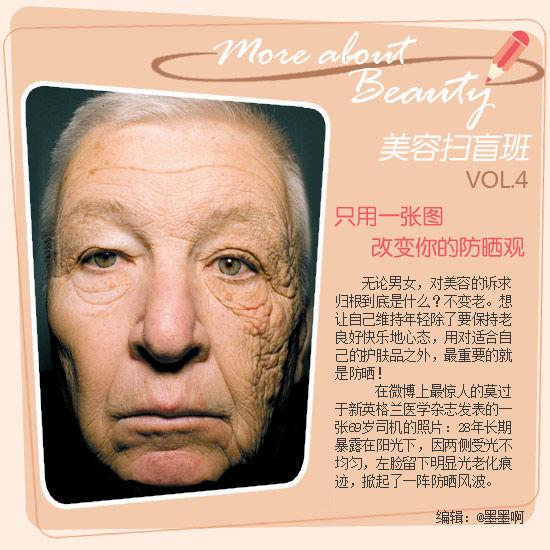 美容扫盲班第7期:一张图改变你的防晒观
