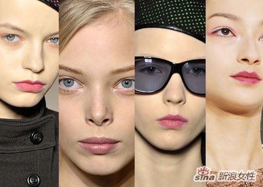 如何搭配:无色的嘴唇可以配合清新的面孔,自然的样子和眼部的烟熏妆