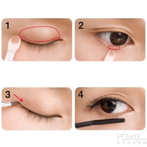 猫眼妆步骤