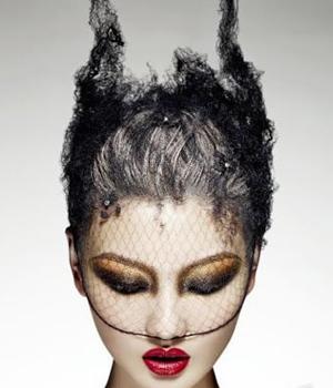 创意彩妆夸张妆面图片【相关词_ 夸张创意彩妆整体造型】图片