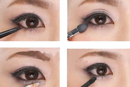 步骤四:下眼也要画眼线