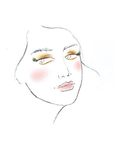 素描手绘妆面图