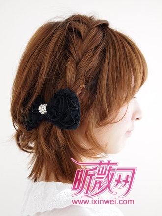 编发×蝴蝶结绝美发型搭配