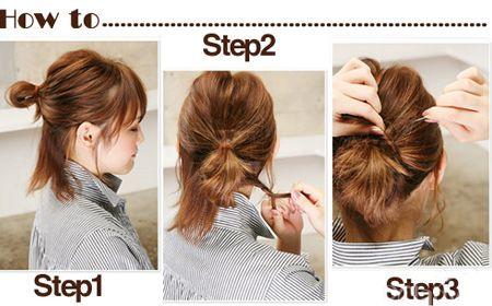 时尚指数:★★★★☆   打造步骤:   step1:把头发分成两层,上层