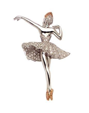 Van Cleef &Arpels芭蕾舞演员Pulcinella胸针