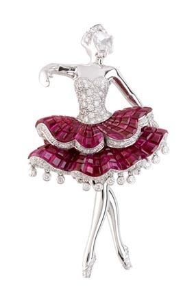 Van Cleef &Arpels芭蕾舞演员Meninas胸针