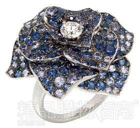 PIAGET 蓝白色钻石戒指