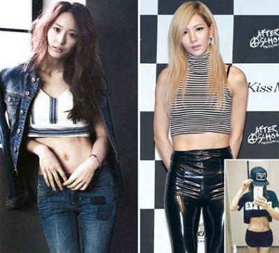 明星人体艺术阴唇阴��f�x�_近日,韩国著名的8位健身教练评选出了拥有最完美腹肌的女明星.