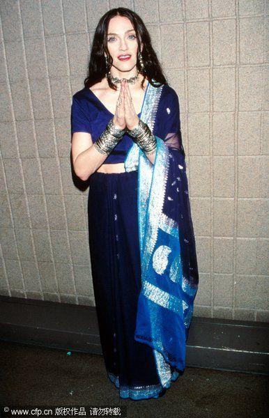 欧美大牌女星穿衣东方情结 化身印度舞娘(图1)