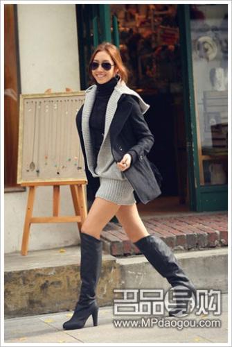 韩国街头美女的冬季美搭