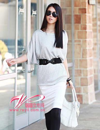 简约筒裙打造时尚OL Style-简约设计打造清新女孩