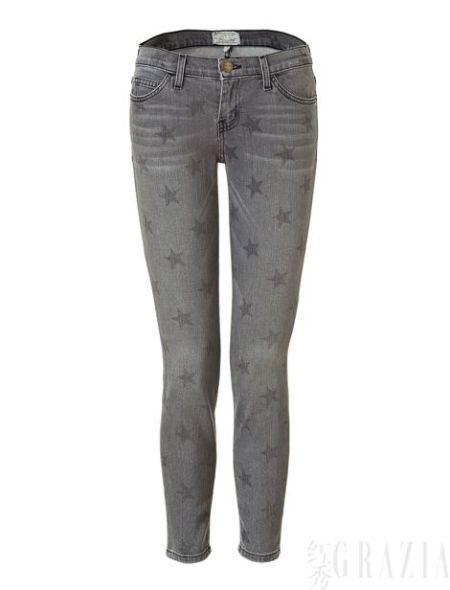 Current /Elliott灰色星星紧身水洗牛仔裤,€235
