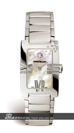 万宝龙侧影女装优雅钻石腕表