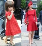 凯特王妃与小苏瑞衣品相似