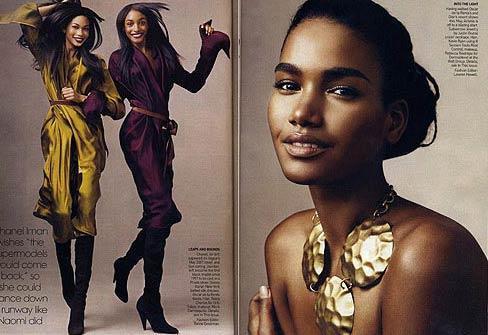 奥巴马夫人引领潮流 黑人模特成时尚界新宠(图)