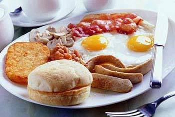 高脂肪早餐有利健康