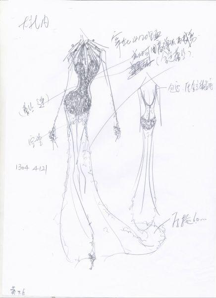 古罗马设计服装手绘设计图