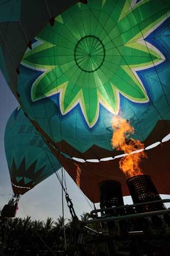 热气球喷火