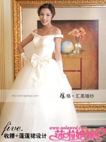 风格·汇美婚纱推出的这款公主型蓬蓬纱受到众多时尚