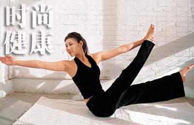 跟我学:瑜伽体式 坐姿平衡伸展(图)图片