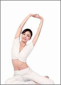 产后瑜伽瘦腰瘦腿图片