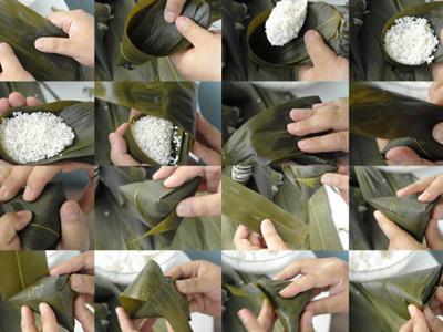 新手必学的四种粽子包法    经典三角粽的包法    酷似冰激凌的