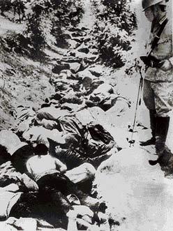 图文:被日军屠杀的市民尸体